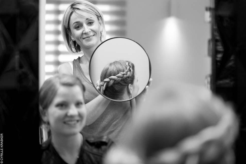 photo mariage préparatif coiffure