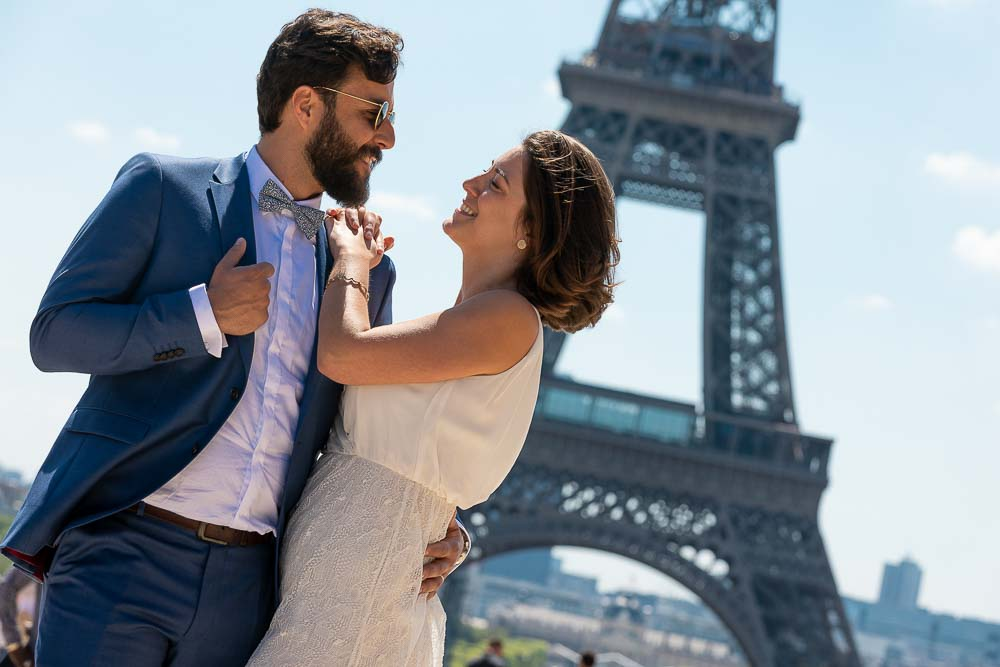 Photo mariage couple Paris