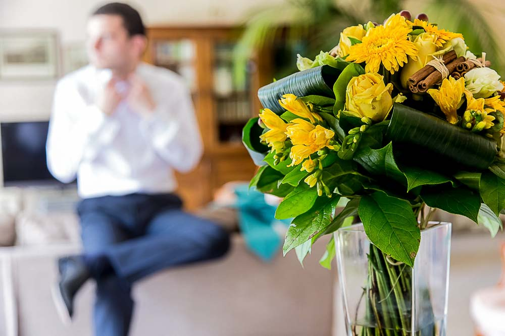 Photo mariage préparatifs fleurs