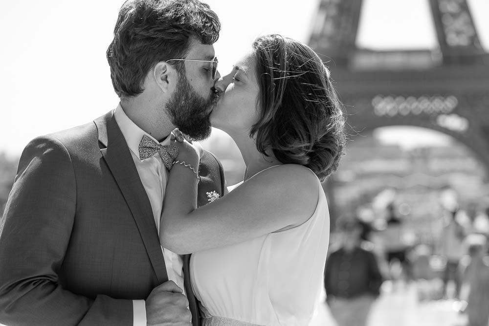 Photographe mariage Paris tour Eiffel