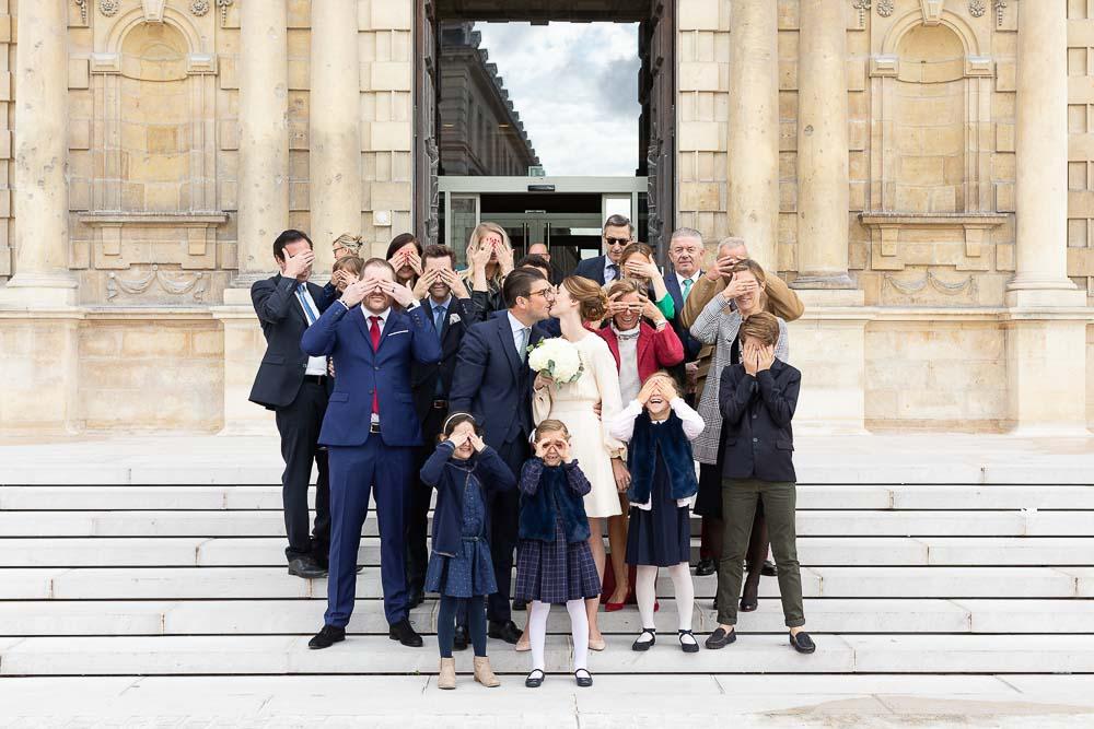 Photographe mariage mairie groupe