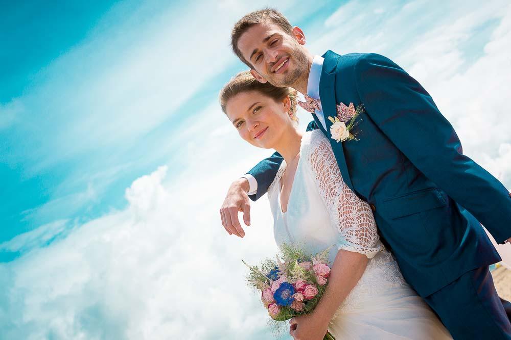 Photographe mariage plage couple