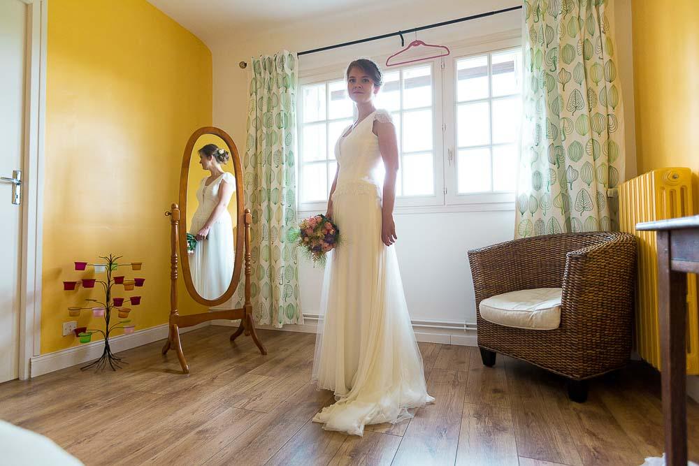 Photographe mariage préparatif femme Paris