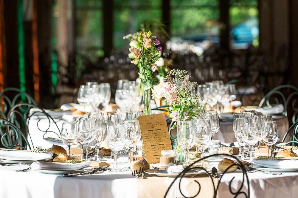 Photographe mariage préparatif table repas Paris