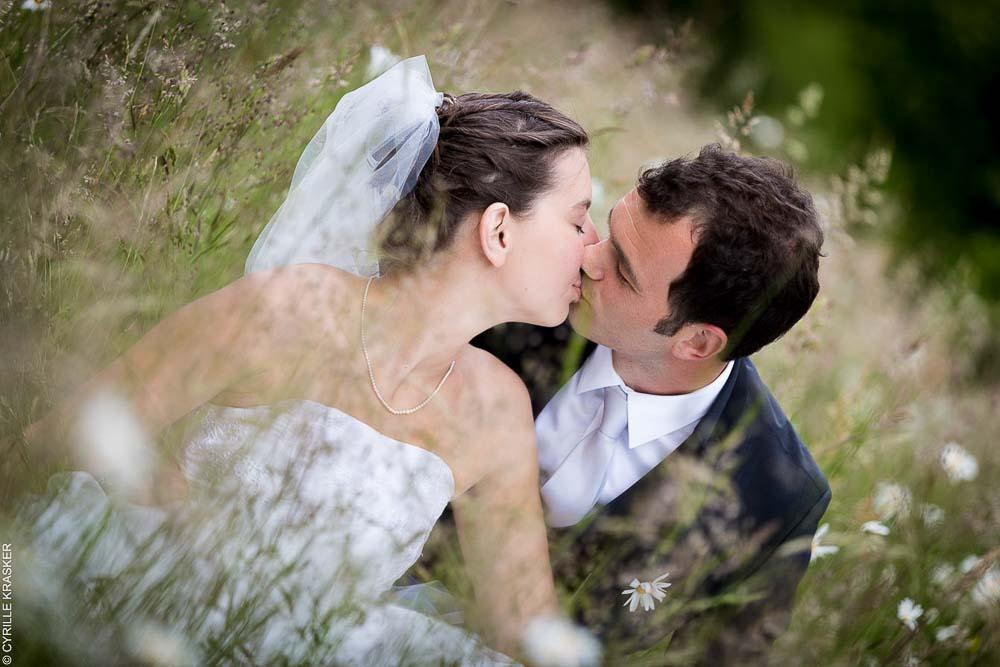 Photographe professionnel mariage séance couple marguerite