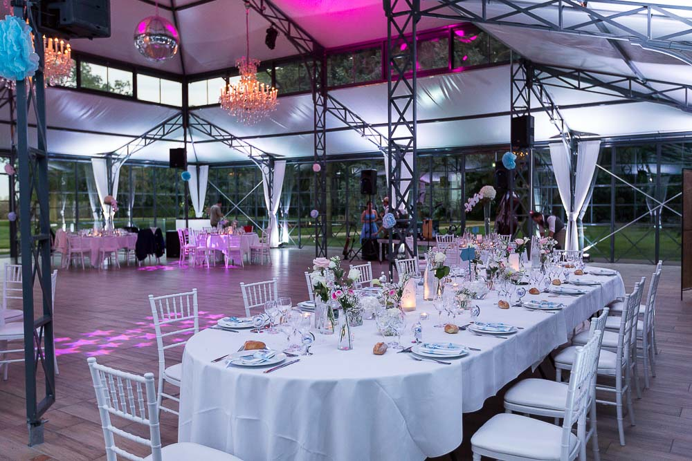 Photographe soirée mariage table