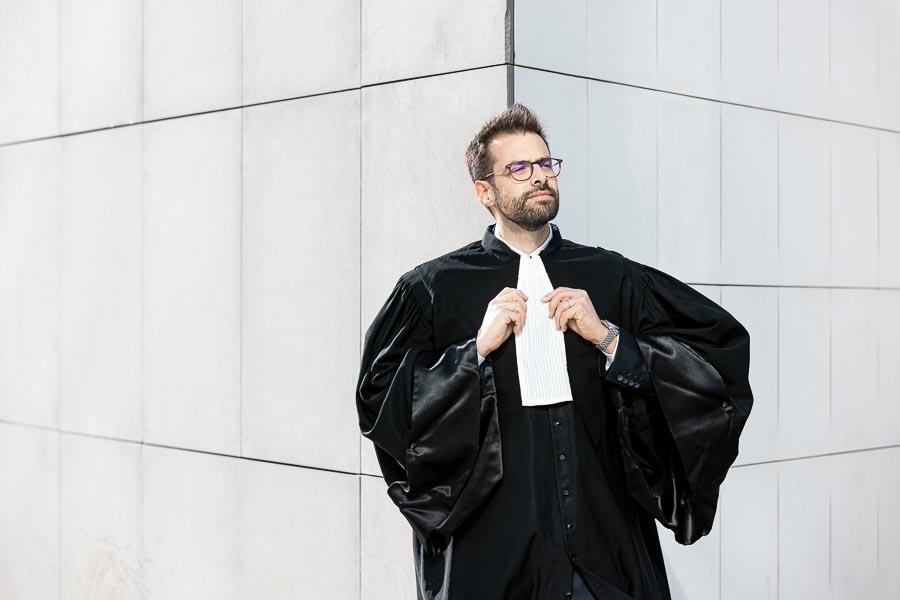 Photographe portrait avocat robe